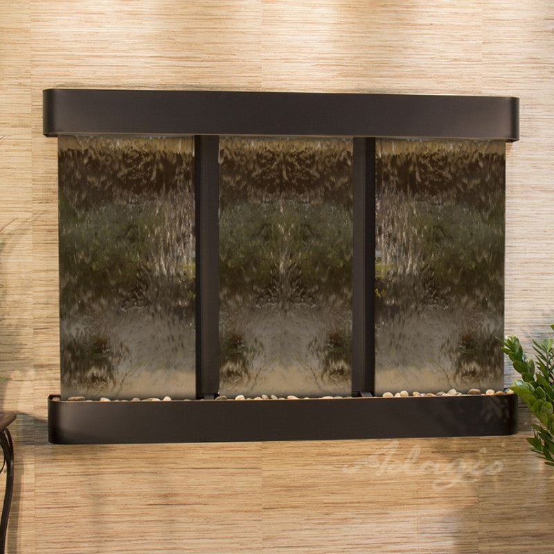 Olympus Falls: Bronze Mirror and Blackened Copper Trim with Rounded Corners