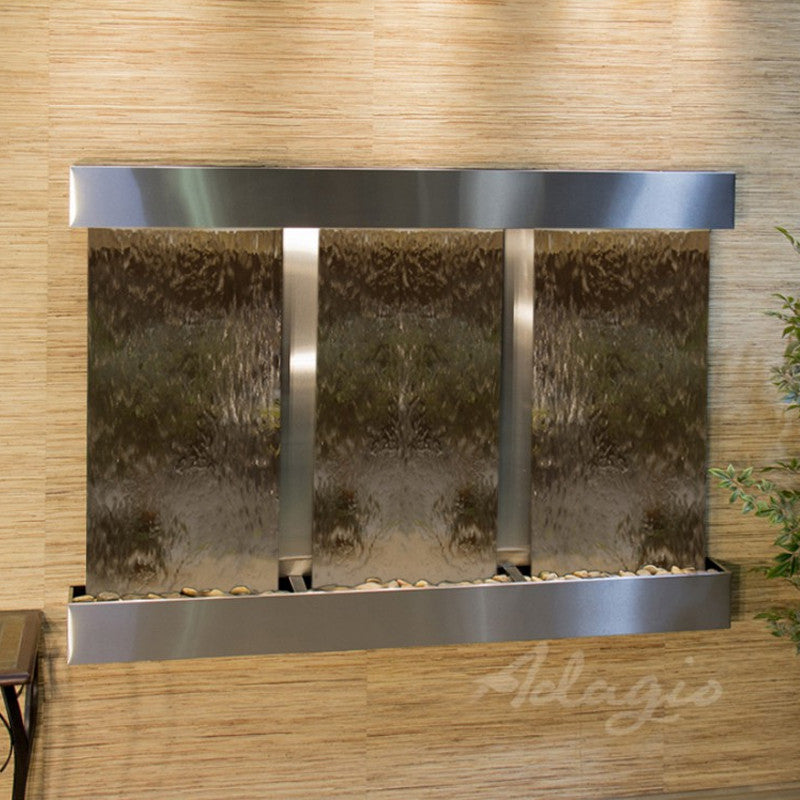 Olympus Falls: Bronze Mirror and Stainless Steel Trim with Squared Corners