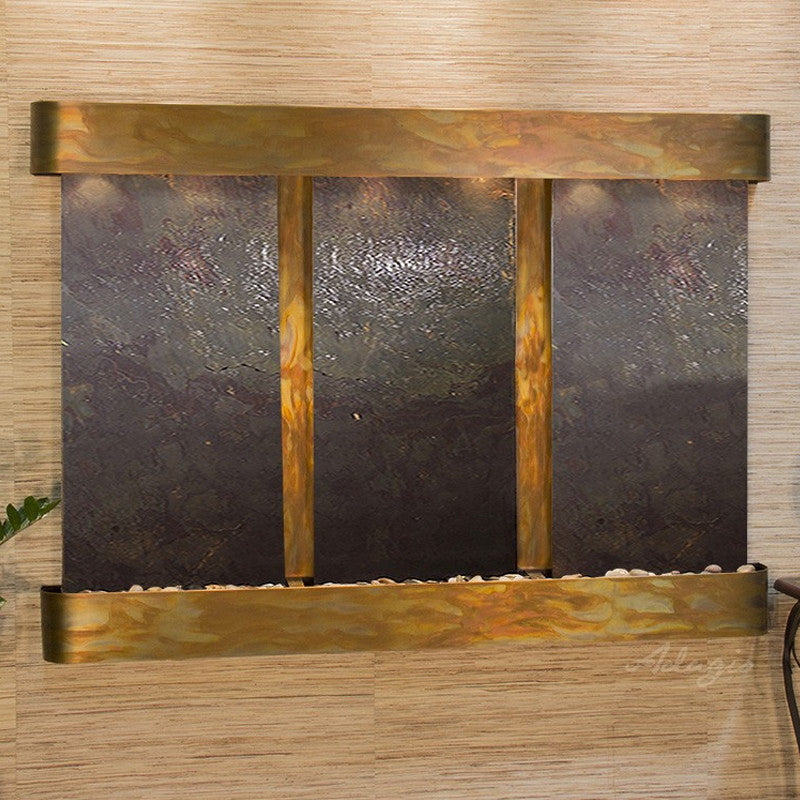 Olympus Falls: Multi-Color FeatherStone and Rustic Copper Trim with Rounded Corners