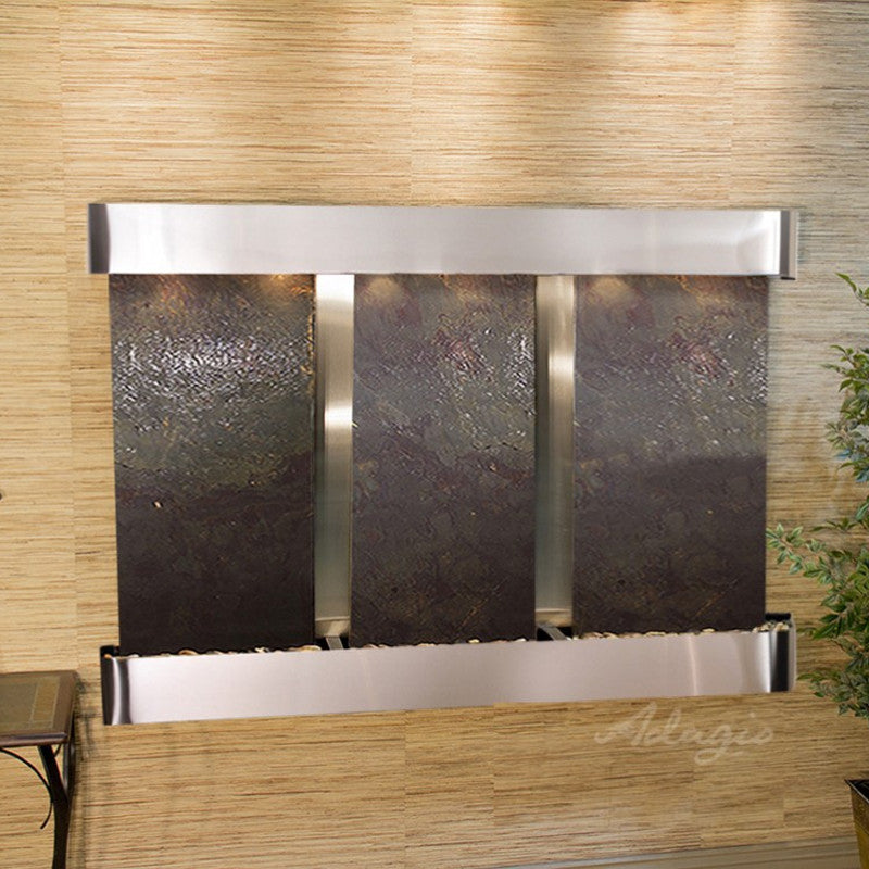 Olympus Falls: Multi-Color FeatherStone and Stainless Steel Trim with Rounded Corners