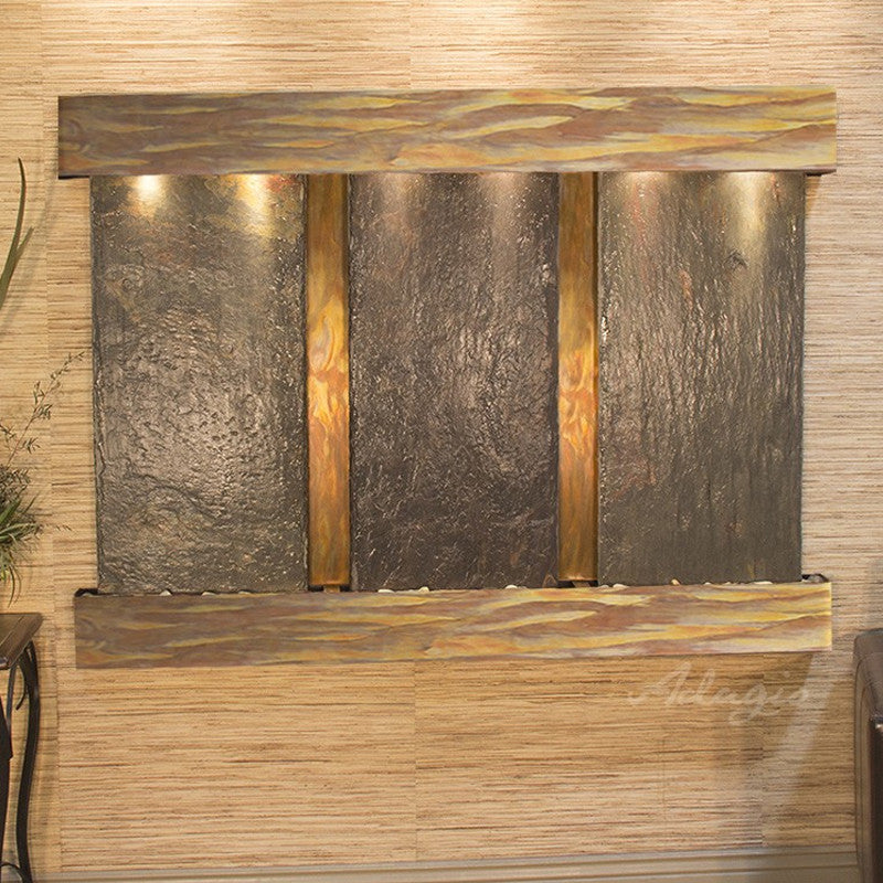 Olympus Falls: Multi-Color Slate and Rustic Copper Trim with Squared Corners