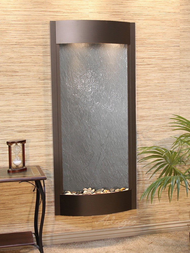 Pacifica Waters: Black FeatherStone with Antique Bronze Trim