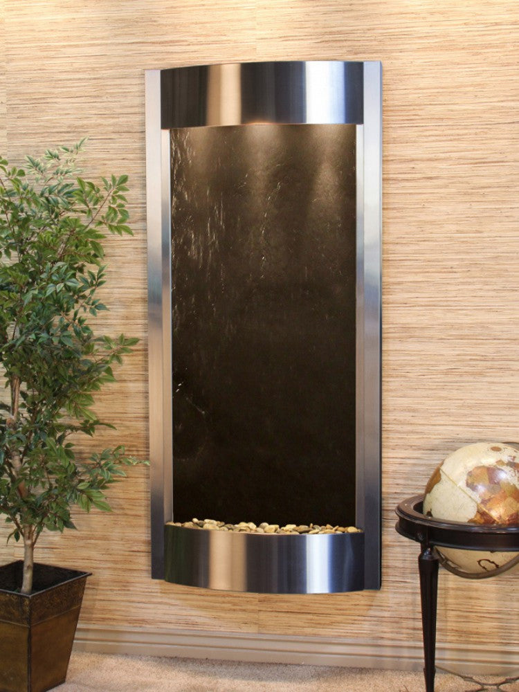 Pacifica Waters - Black FeatherStone - Stainless Steel - Soothing Walls