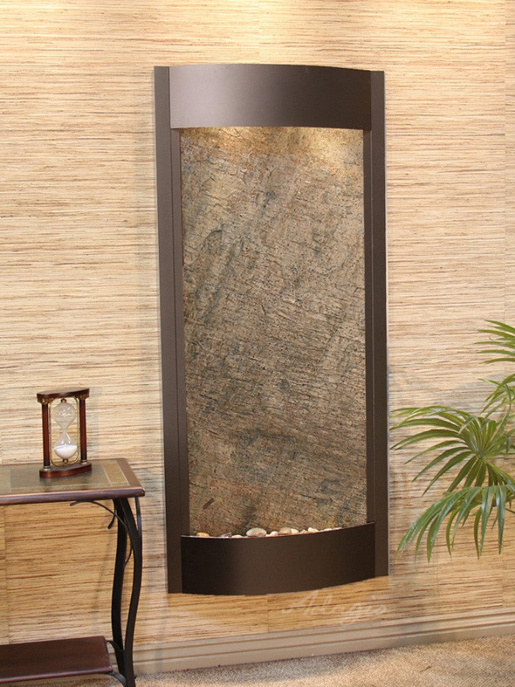 Pacifica Waters - Green FeatherStone - Antique Bronze - Soothing Walls
