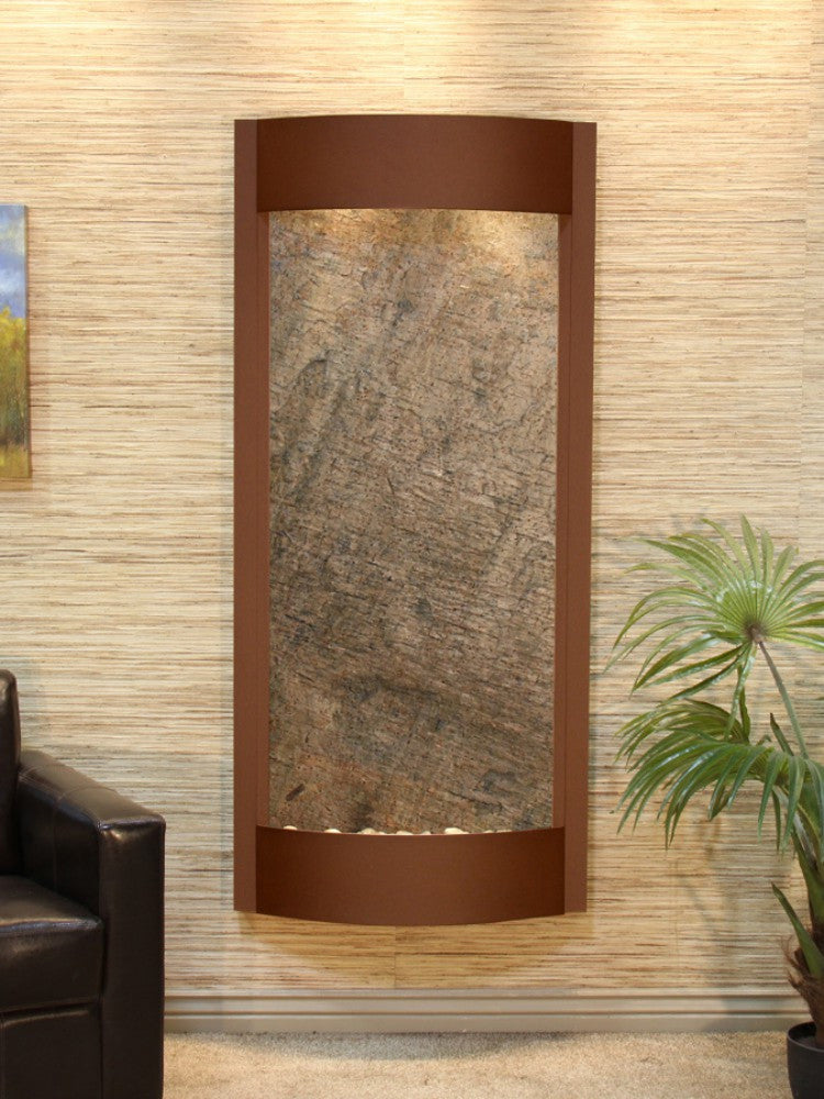 Pacifica Waters - Green FeatherStone - Woodland Brown - Soothing Walls