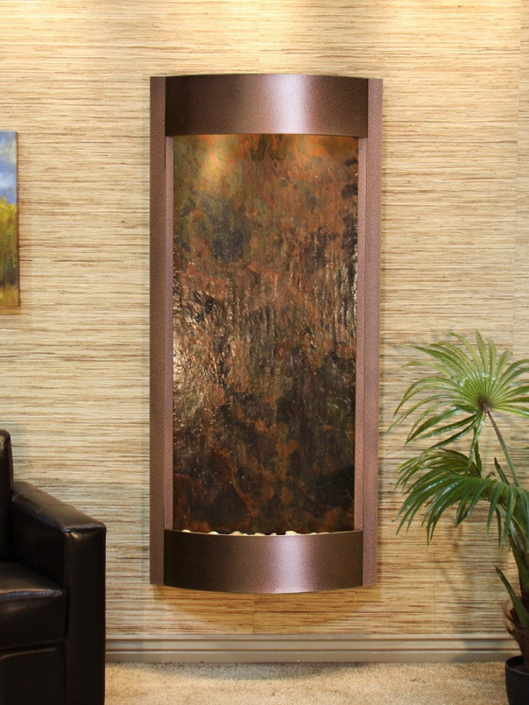 Pacifica Waters: Multi-Color FeatherStone with Copper Vein Trim