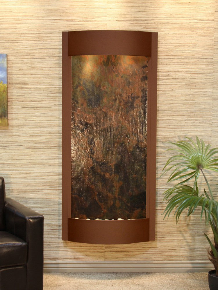 Pacifica Waters: Multi-Color FeatherStone with Woodland Brown Trim
