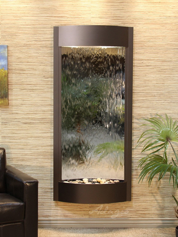 Pacifica Waters: Silver Mirror with Antique Bronze Trim