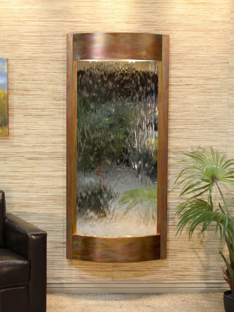 Pacifica Waters: Silver Mirror with Rustic Copper Trim