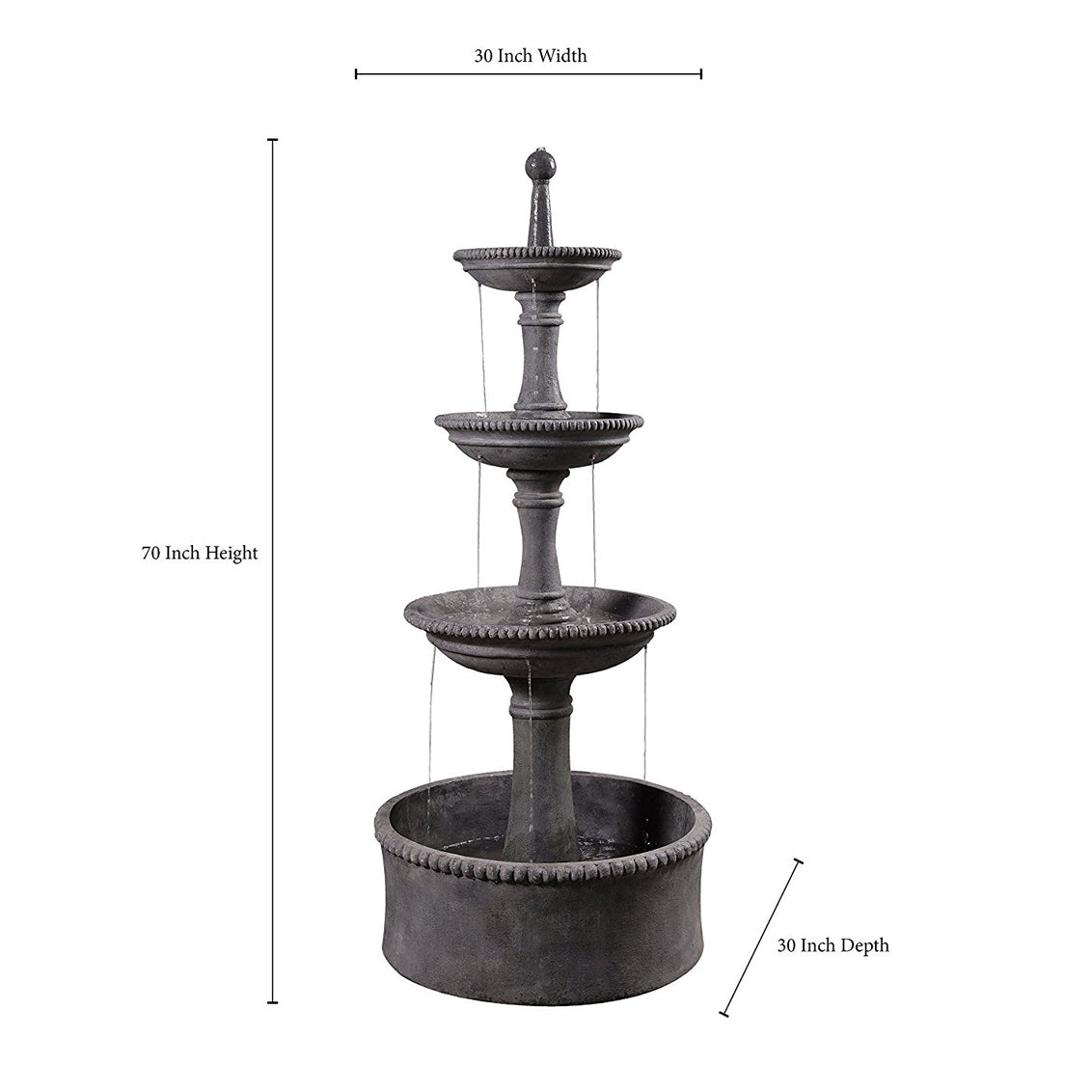 Palace Outdoor Floor Fountain - Soothing Walls