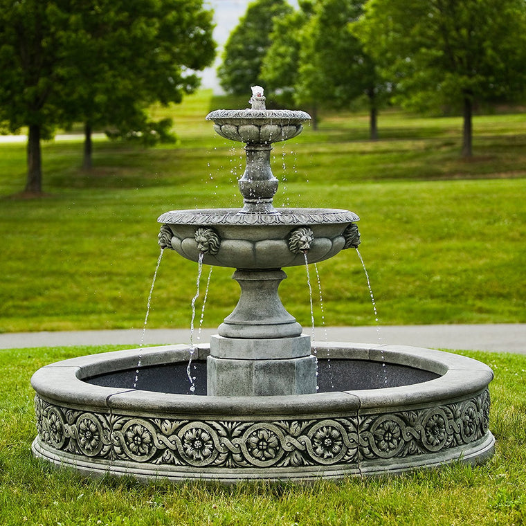 Parisienne Two Tier Outdoor Water Fountain - Soothing Walls