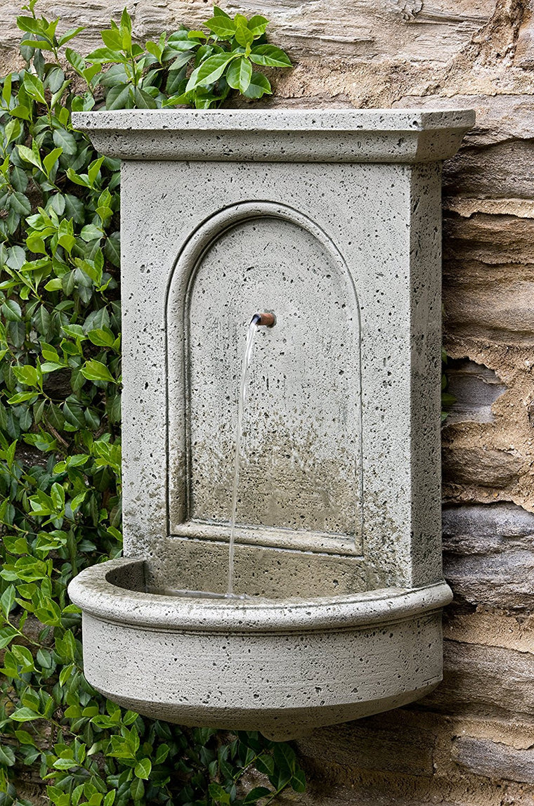Wall outdoor fountains shop outdoor wall water features for Outdoor wall fountains