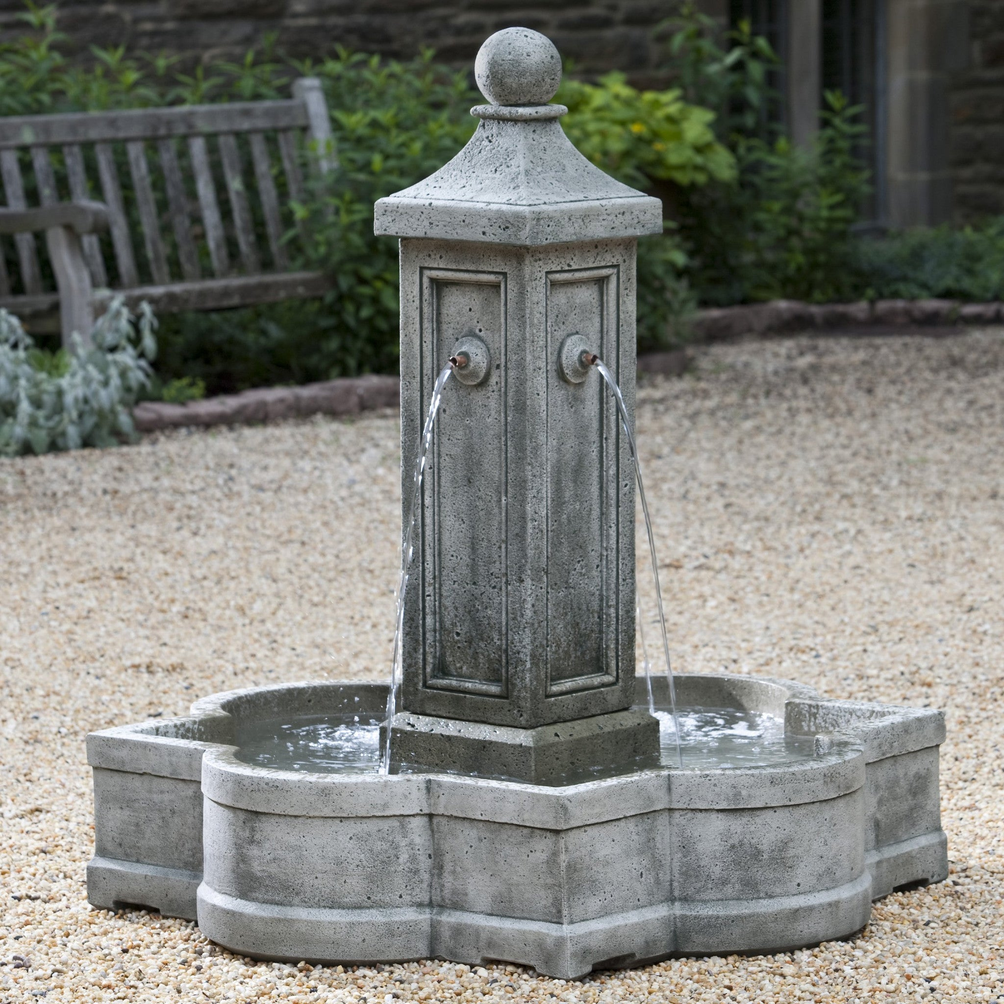 Provence Garden Fountain with Pool - Soothing Walls