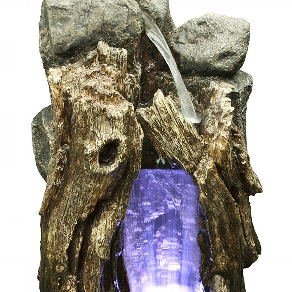 Rain Forest Waterfall Edition Small With LED Lights - Soothing Walls