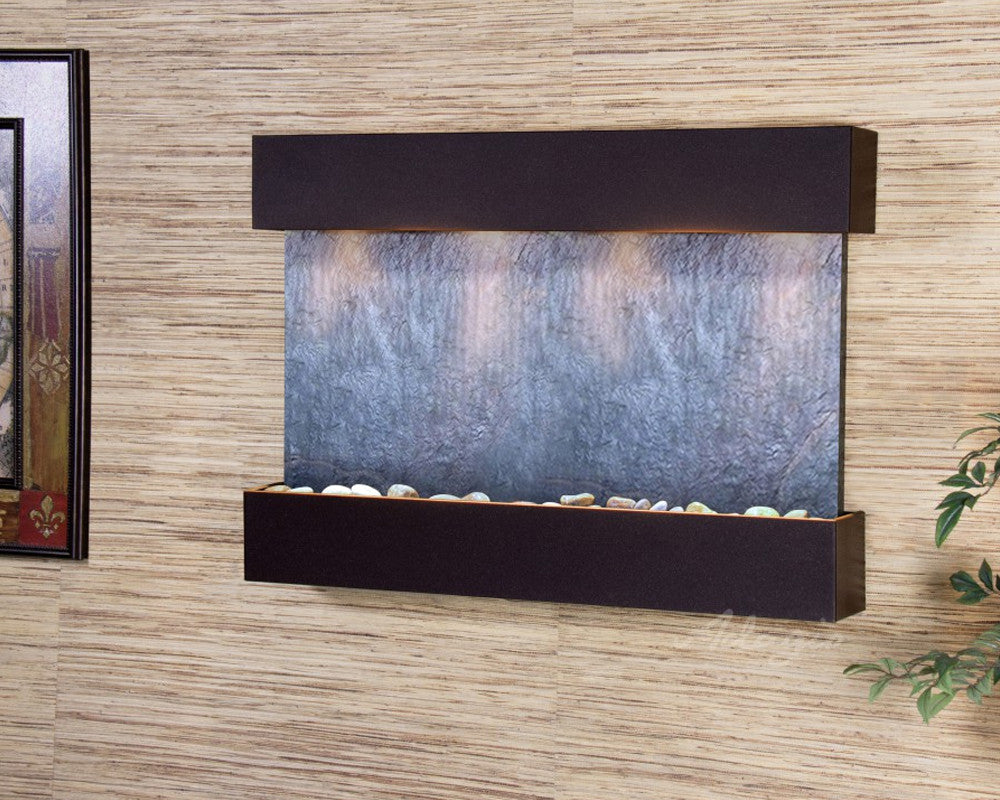 Reflection Creek: Black FeatherStone and Antique Bronze Trim