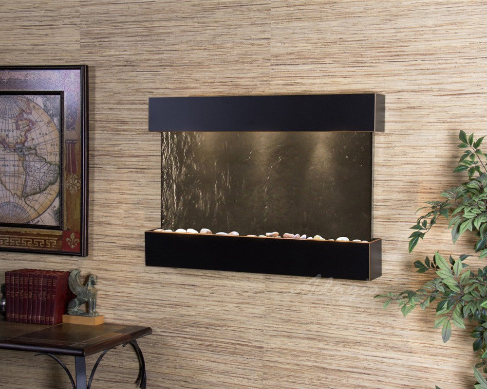 Reflection Creek: Black FeatherStone and Blackened Copper Trim