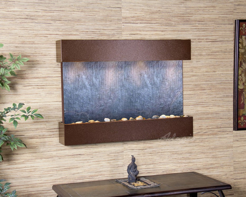 Reflection Creek - Black FeatherStone - Copper Vein - Soothing Walls