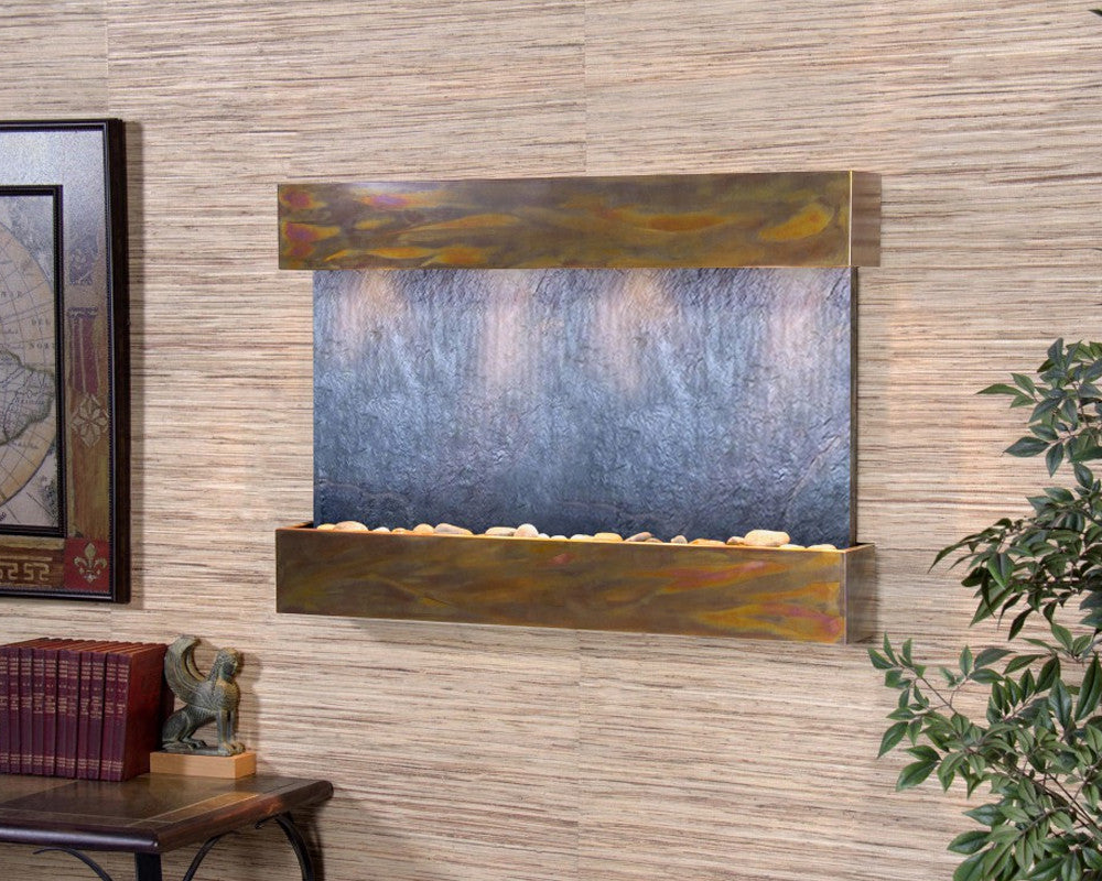 Reflection Creek - Black FeatherStone - Rustic Copper - Soothing Walls