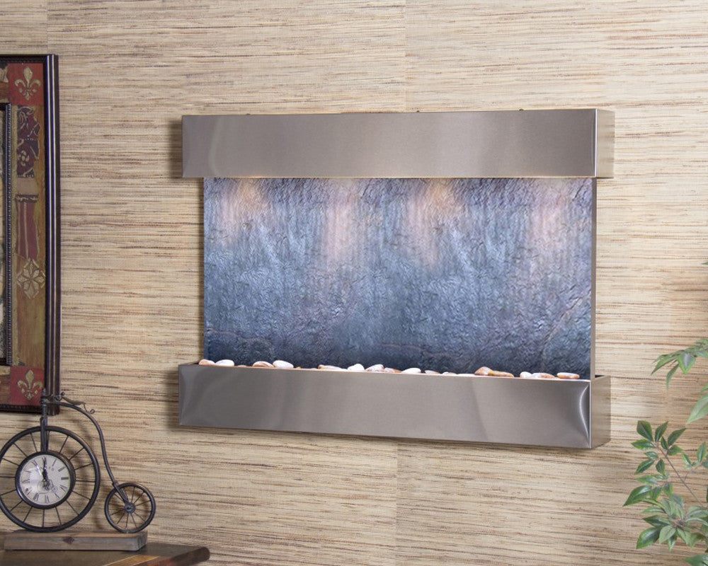 Reflection Creek - Black FeatherStone - Stainless Steel - Soothing Walls
