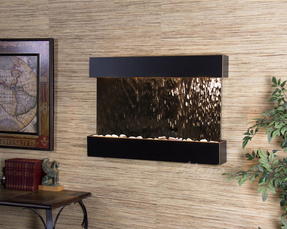 Reflection Creek: Bronze Mirror and Blackened Copper Trim