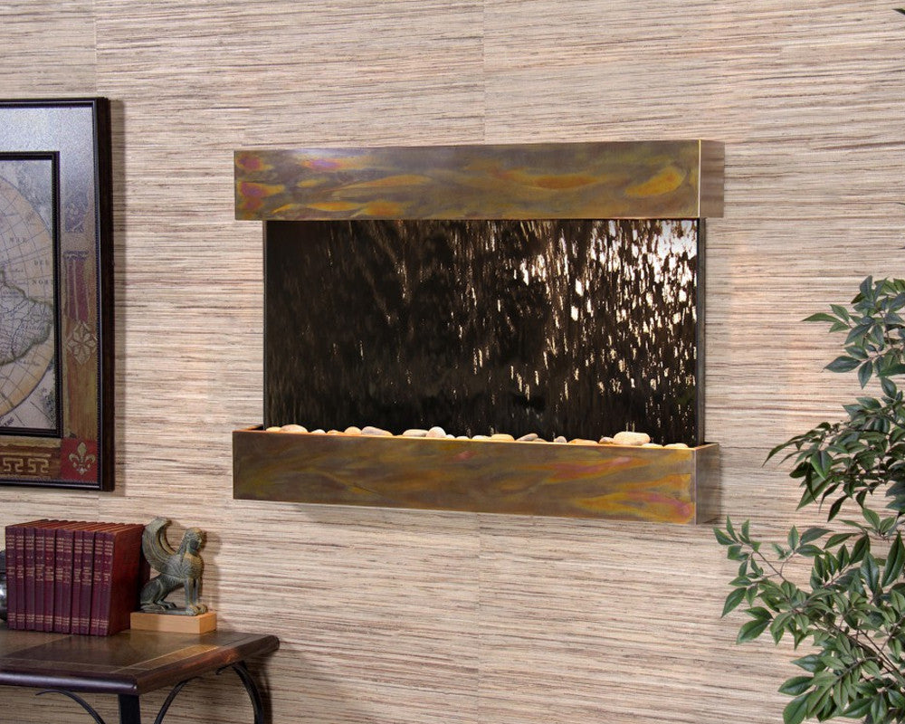 Reflection Creek: Bronze Mirror and Rustic Copper Trim