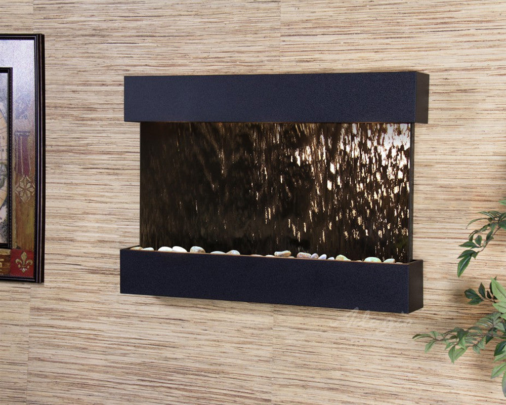 Reflection Creek - Bronze Mirror - Textured Black - Soothing Walls