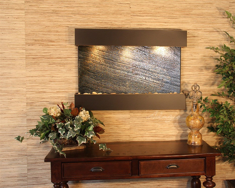 Reflection Creek: Green FeatherStone and Blackened Copper Trim