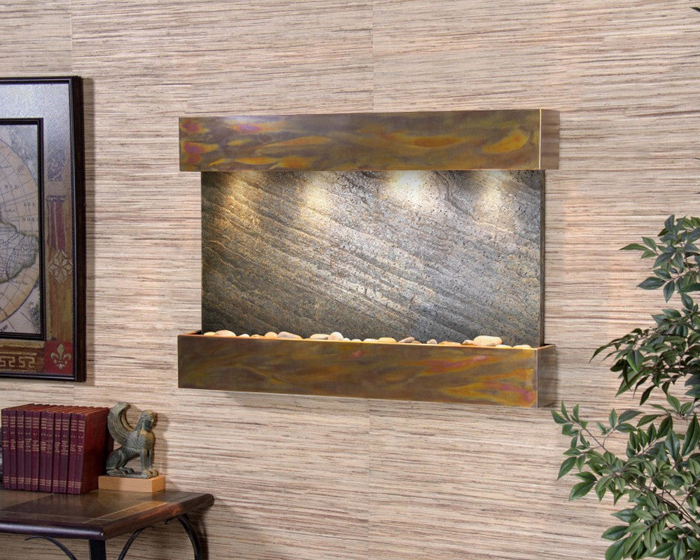 Reflection Creek - Green FeatherStone - Rustic Copper - Soothing Walls