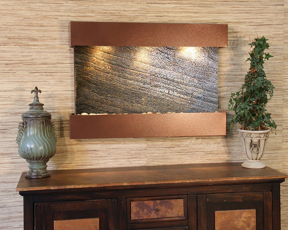 Reflection Creek - Green FeatherStone - Woodland Brown - Soothing Walls