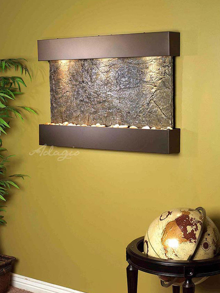 Reflection Creek - Green Slate - Antique Bronze - Soothing Walls