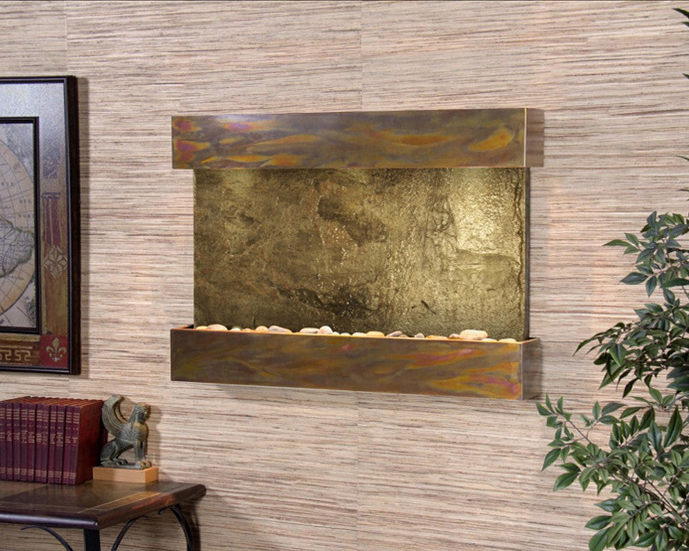 Reflection Creek - Green Slate - Rustic Copper - Soothing Walls