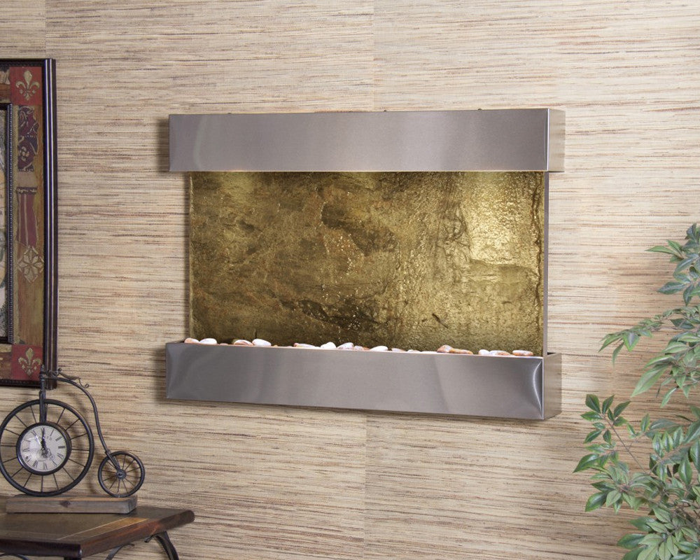 Reflection Creek - Green Slate - Stainless Steel - Soothing Walls