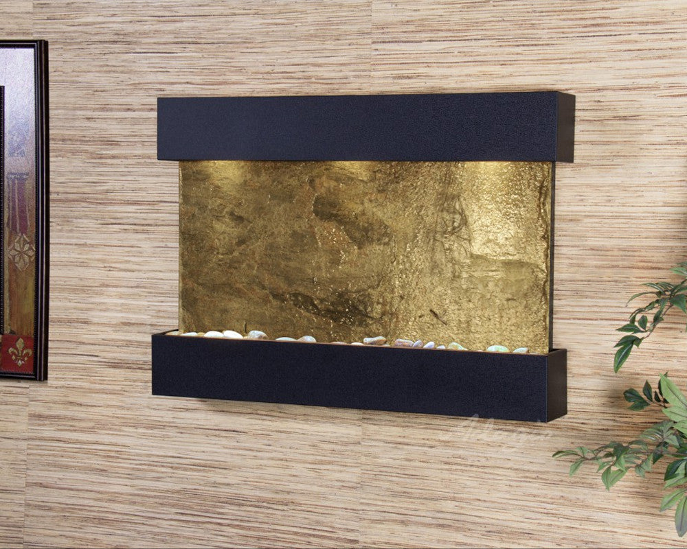 Reflection Creek: Green Slate and Textured Black Trim