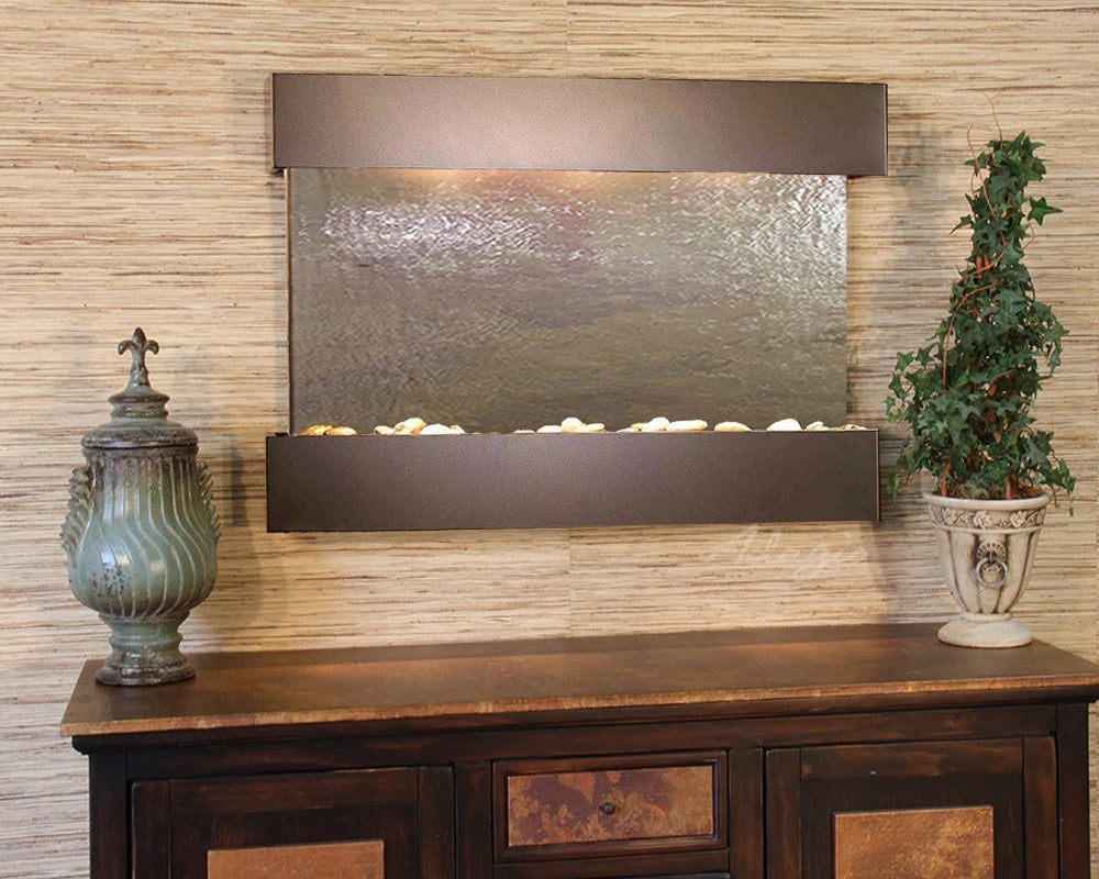 Reflection Creek - Multi-Color FeatherStone - Antique Bronze - Soothing Walls