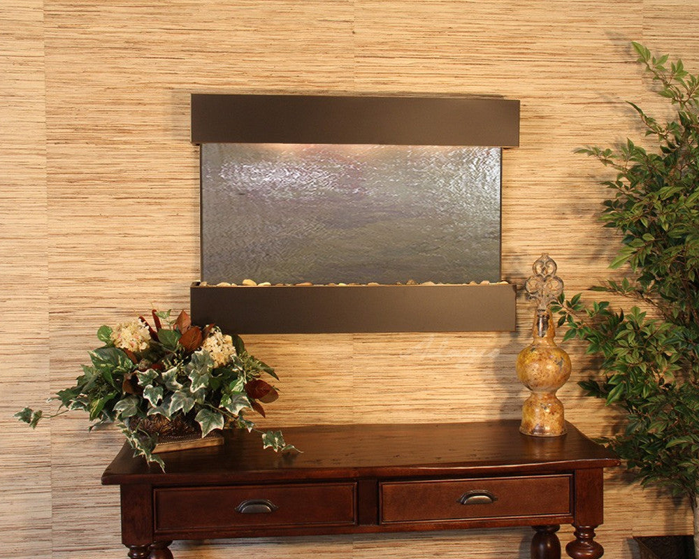 Reflection Creek - Multi-Color FeatherStone - Blackened Copper - Soothing Walls