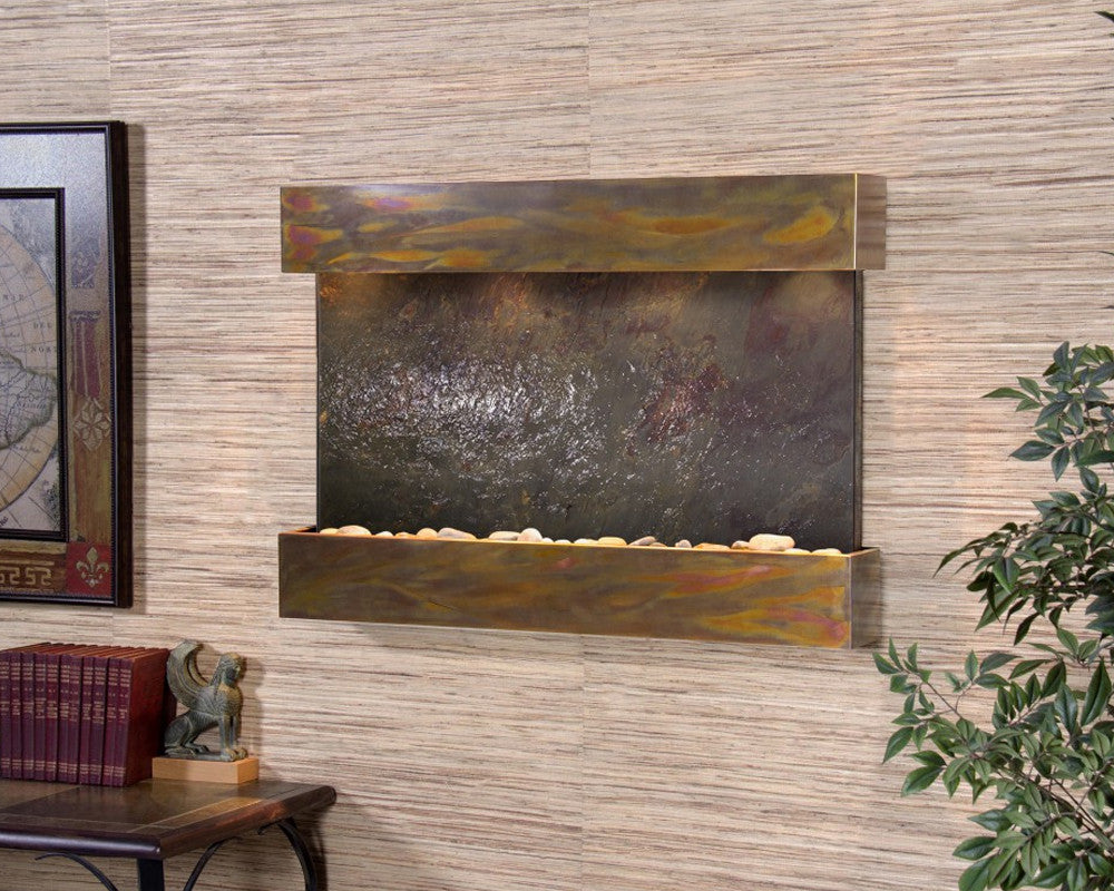 Reflection Creek: Multi-Color FeatherStone and Rustic Copper Trim