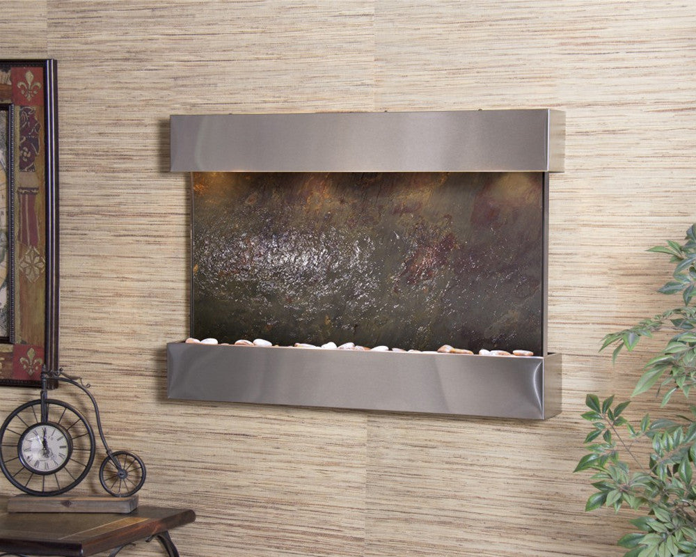 Reflection Creek - Multi-Color FeatherStone - Stainless Steel - Soothing Walls