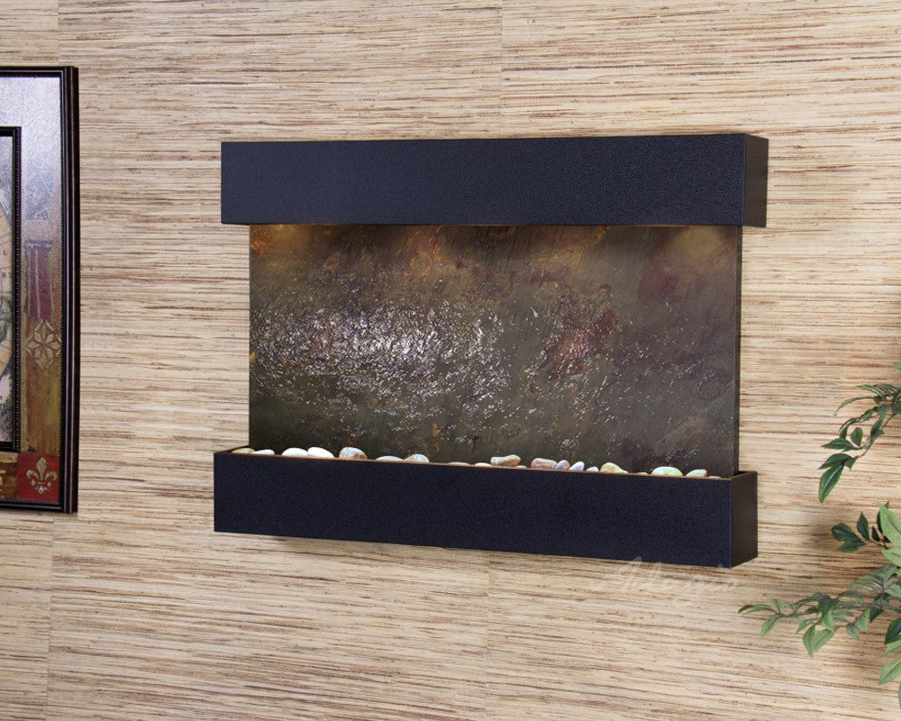 Reflection Creek - Multi-Color FeatherStone - Textured Black -Soothing Walls