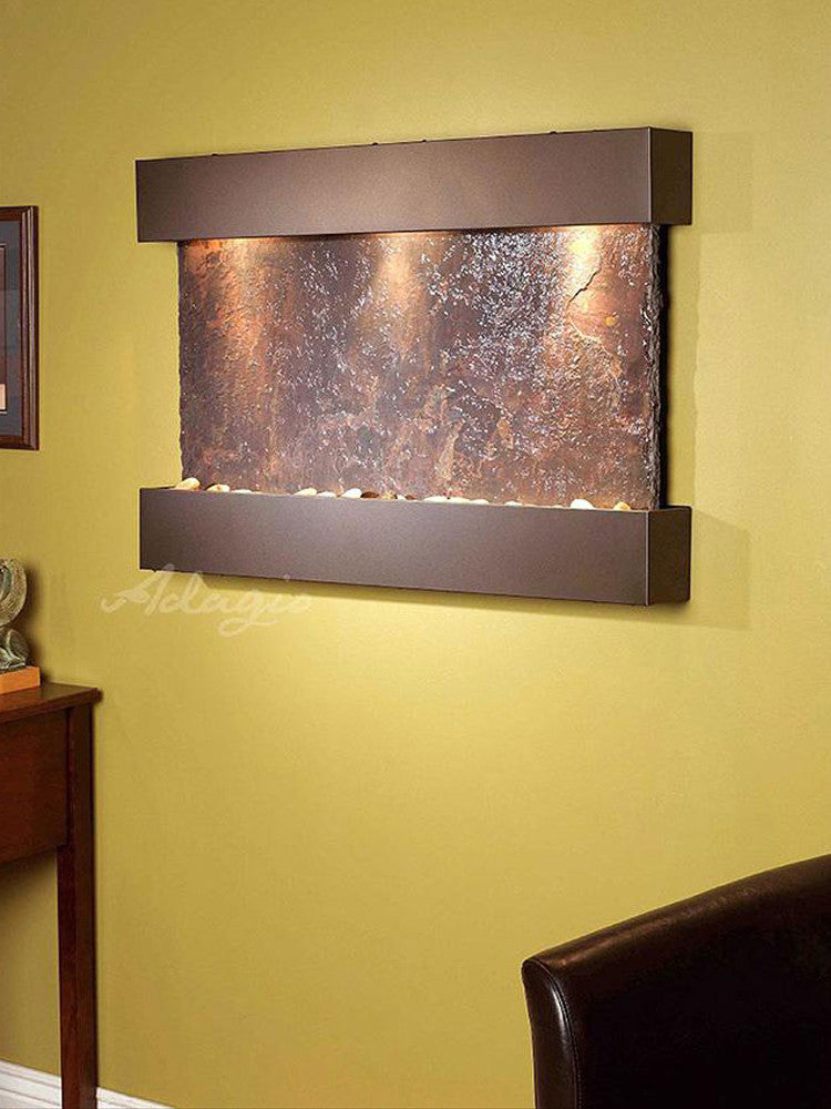 Reflection Creek: Multi-Color Slate and Antique Bronze Trim