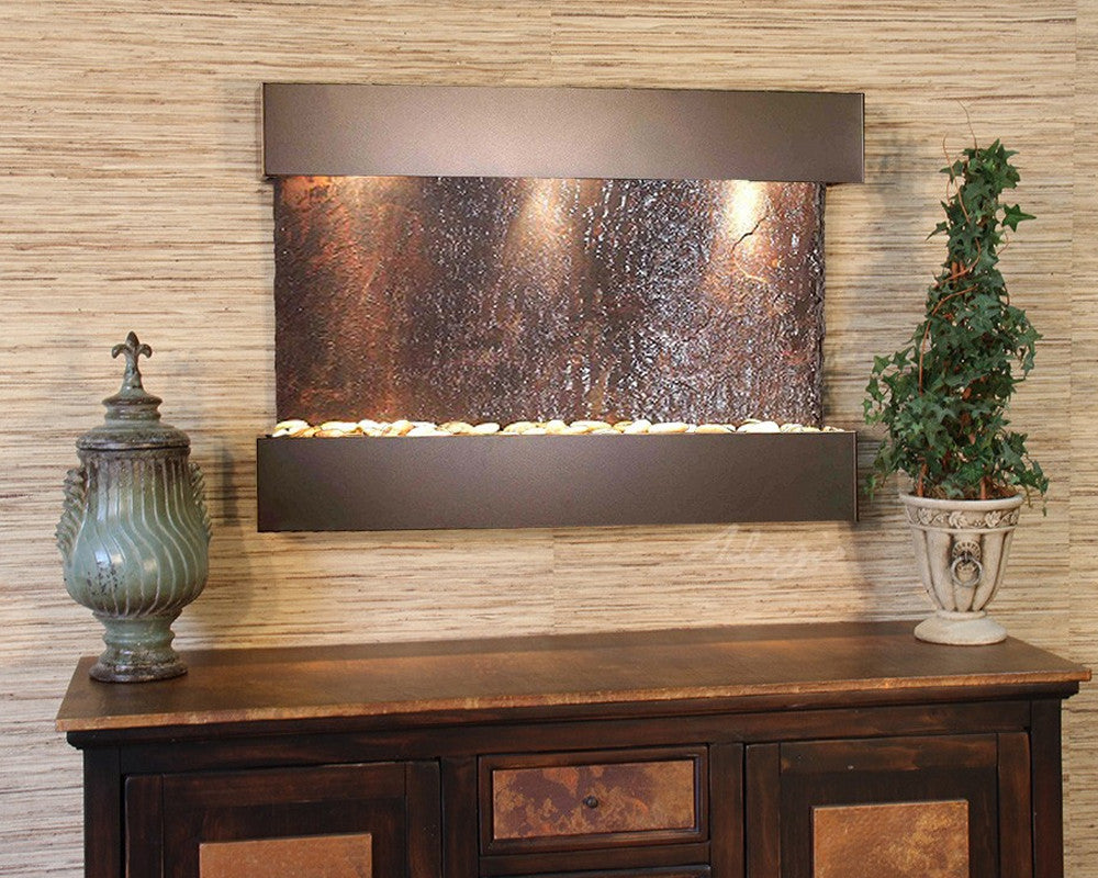 Reflection Creek - Multi-Color Slate - Antique Bronze - Soothing Walls