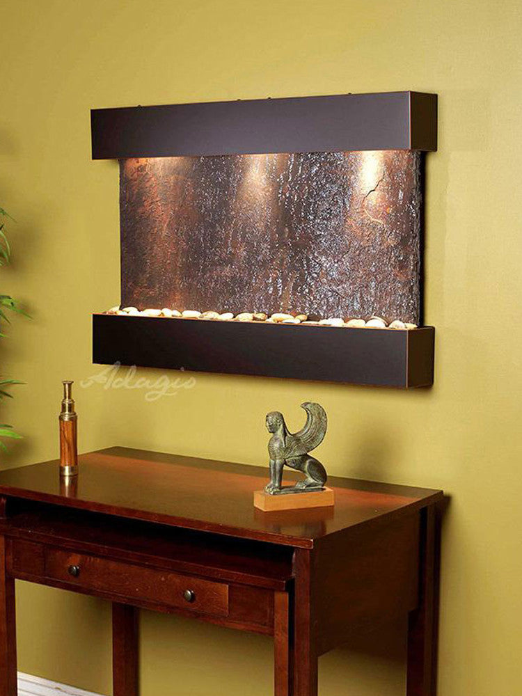 Reflection Creek: Multi-Color Slate and Blackened Copper Trim
