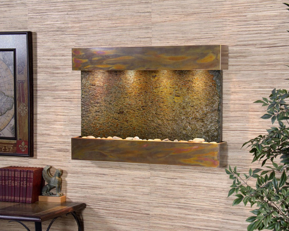 Reflection Creek: Multi-Color Slate and Rustic Copper Trim