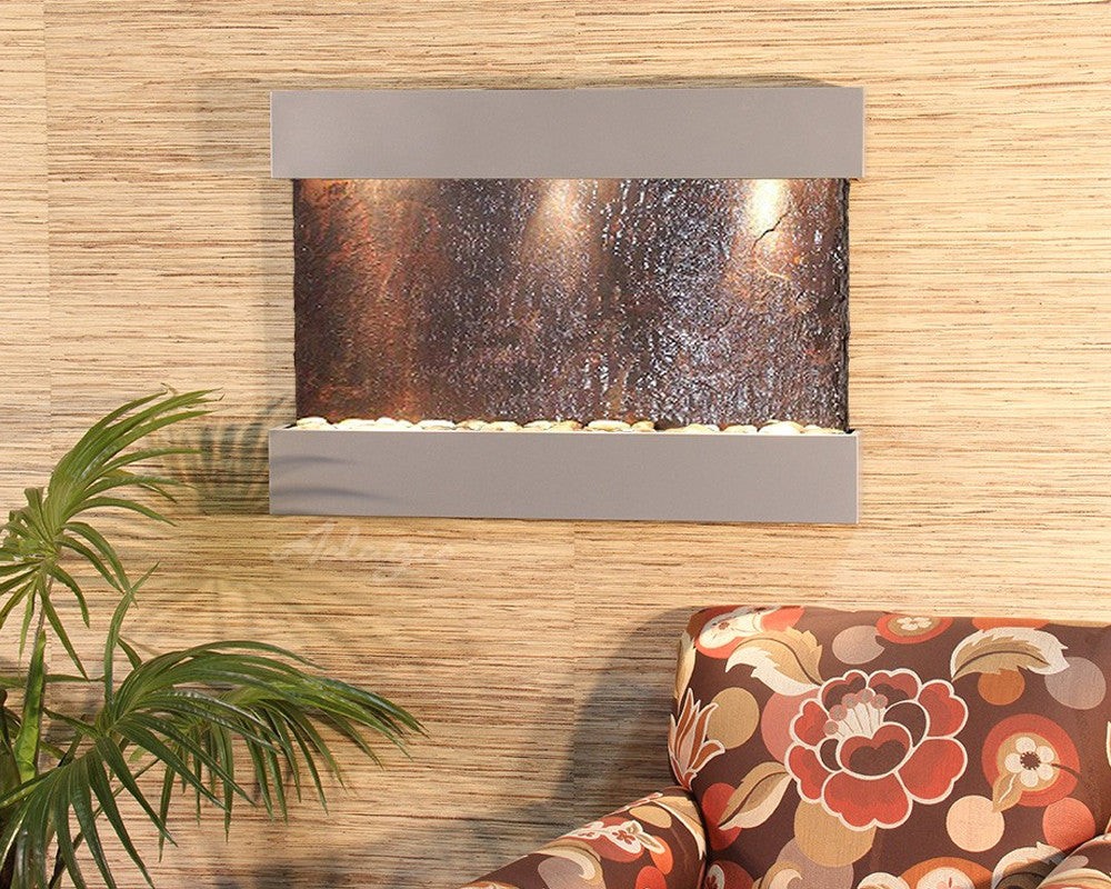 Reflection Creek - Multi-Color Slate - Silver Metallic - Soothing Walls
