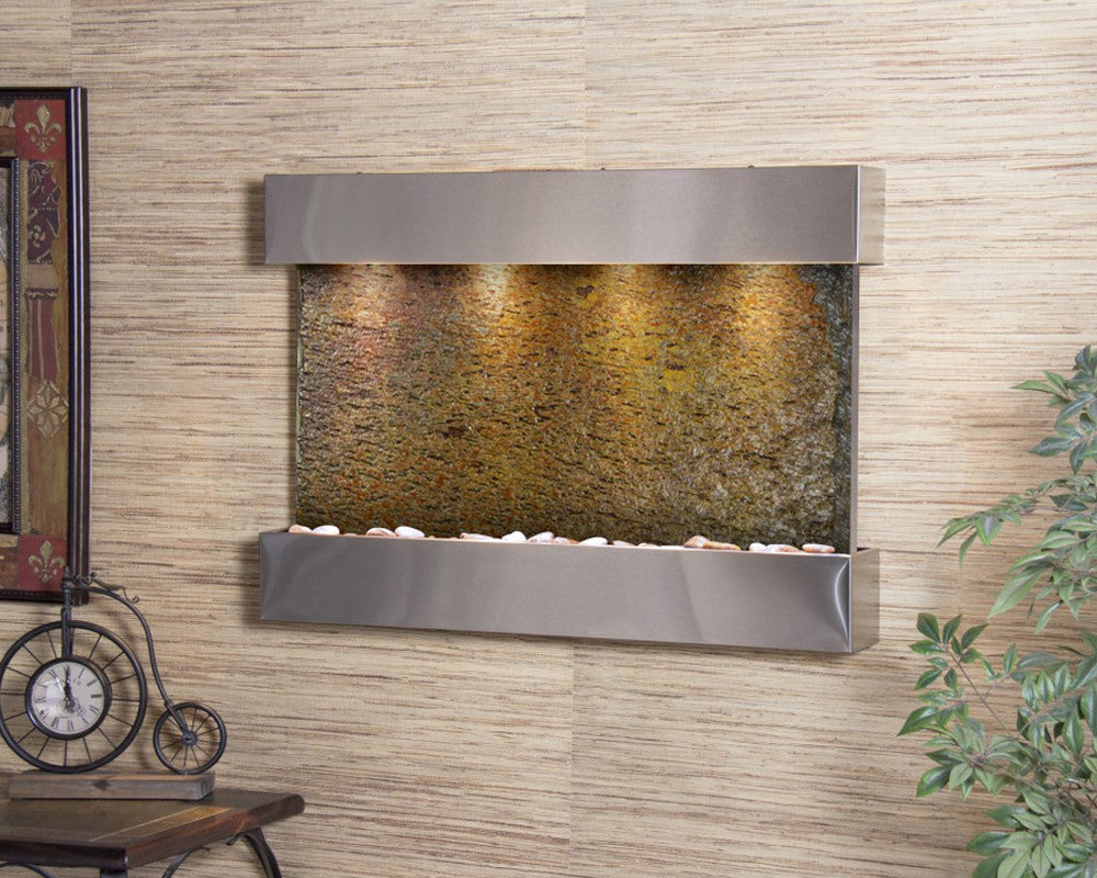 Reflection Creek - Multi-Color Slate - Stainless Steel - Soothing Walls