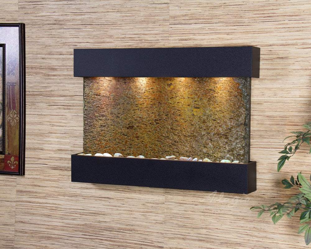 Reflection Creek - Multi-Color Slate - Textured Black - Soothing Walls