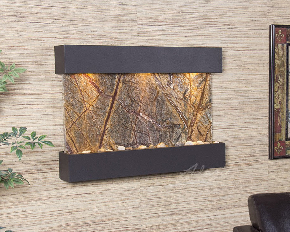 Reflection Creek - Rainforest Brown Marble - Antique Bronze - Soothing Walls