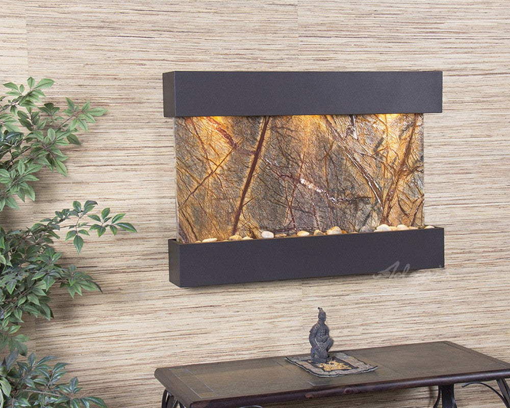 Reflection Creek: Rainforest Brown Marble and Antique Bronze Trim