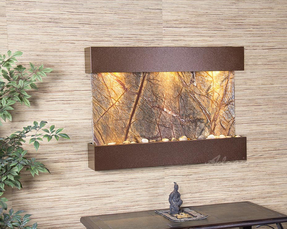 Reflection Creek - Rainforest Brown Marble - Copper Vein - Soothing Walls