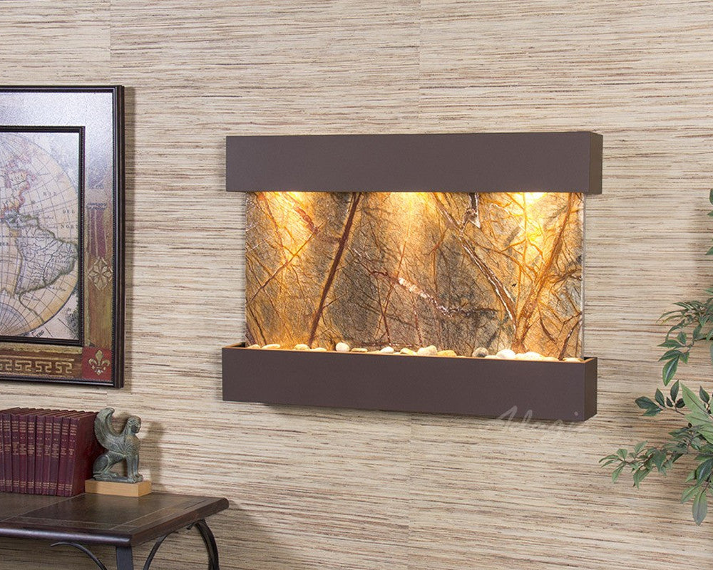 Reflection Creek: Rainforest Brown Marble and Woodland Brown Trim