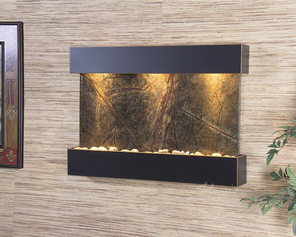Reflection Creek - Rainforest Green Marble - Blackened Copper - Soothing Walls